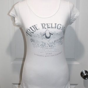 True Religion TR Graphic T-Shirt Top Size XS